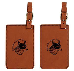Australian Cattle Dog  Head #3 Luggage Tag 2 Pack L1335