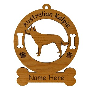 1374 Australian Kelpie Standing Ornament Personalized with Your Dog's Name
