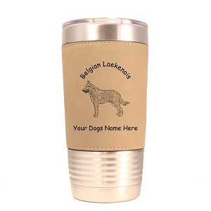 1605 Belgian Laekenois Standing #1 20oz Polar Camel Tumbler with Lid Personalized with Your Dog's Name