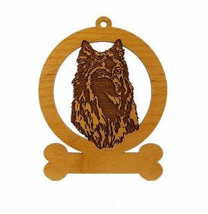 081662 Belgian Tervuren Head Ornament Personalized with Your Dog's Name
