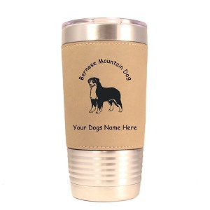 1714 Bernese Mountain Dog Standing #1 20oz Polar Camel Tumbler with Lid Personalized with Your Dog's Name