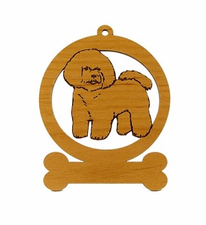 081740 Bichon Frise Ornament Personalized with Your Dog's Name
