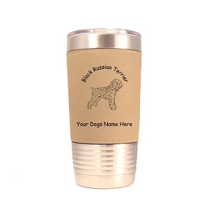 1779 Black Russian Terrier Standing #1 20oz Polar Camel Tumbler with Lid Personalized with Your Dog's Name