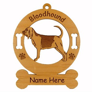 1792 Bloodhound Standing Ornament Personalized with Your Dog's Name