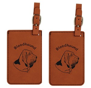 Bloodhound Head Luggage Tag 2 Pack L1805