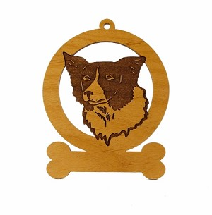 081844 Border Collie Head  Ornament Personalized with Your Dog's Name