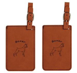 Boxer Standing Luggage Tag 2 Pack L1946