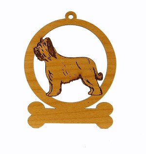 081976 Briard Ornament Personalized with Your Dog's Name