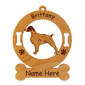 1992 Brittany Standing #2 Ornament Personalized with Your Dog's Name