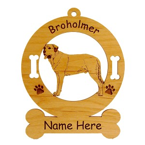 1997 Broholmer Standing Ornament Personalized with Your Dog's Name