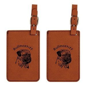 Bullmastiff  Head Luggage Tag 2 Pack L2018