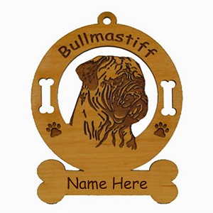 2018 Bullmastiff  Head Ornament Personalized with Your Dog's Name
