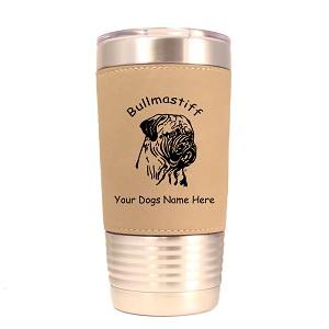 2018 Bullmastiff Head #1 20 oz Polar Camel Tumbler with Lid Personalized with Your Dog's Name