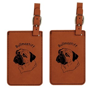 Bullmastiff  Head #2 Luggage Tag 2 Pack L2020