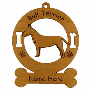 2036 Bull Terrier Standing Ornament Personalized with Your Dog's Name