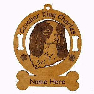 2085 Cavalier King Charles Head Ornament Personalized with Your Dog's Name