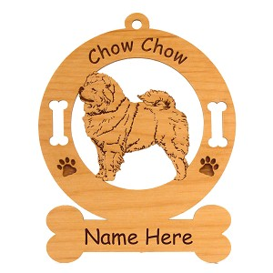 2142 Chow Standing #2 Ornament Personalized with Your Dog's Name