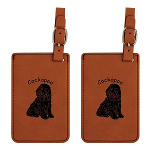 Cockapoo Luggage Tag 2 Pack L2156