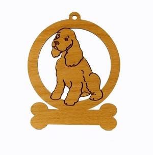 082170 Cocker Spaniel Puppy Dog Ornament Personalized with Your Dog's Name