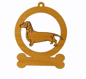 083040 Smooth Dachshund Standing Personalized with Your Dog's Name