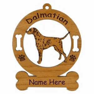 3048 Dalmatian Standing Ornament Personalized with Your Dog's Name