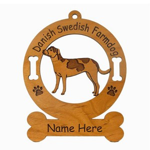 3067 Danish Swedish Farmdog Standing Ornament Personalized with Your Dog's Name