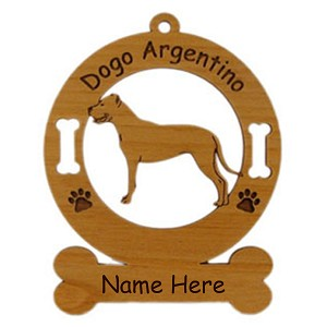3123 Dogo Argentino Standing Ornament Personalized with Your Dog's Name