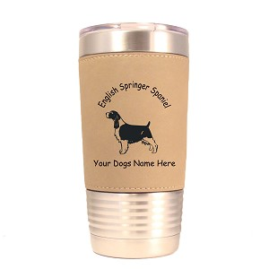 3165 English Springer Spaniel Standing #1 20 oz Polar Camel Tumbler with Lid Personalized with Your Dog's Name