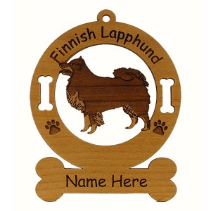 3188 Finnish Lapphund Standing Ornament Personalized with Your Dog's Name