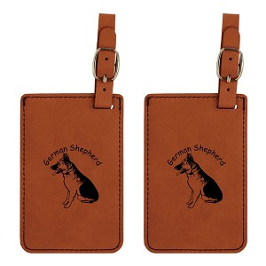 German Shepherd Sitting  Luggage Tag 2 Pack L3220