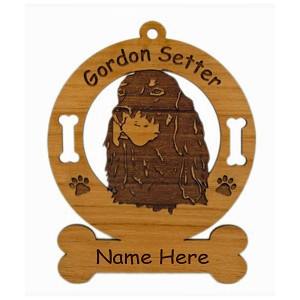 3277 Gordon Setter Head Ornament Personalized with Your Dog's Name
