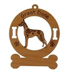 3286 Great Dane Standing Ornament Personalized with Your Dog's Name