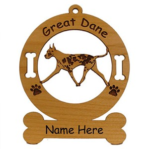 3290 Great Dane Gaiting Ornament Personalized with Your Dog's Name
