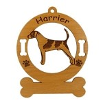 3338 Harrier Standing Ornament Personalized with Your Dog's Name