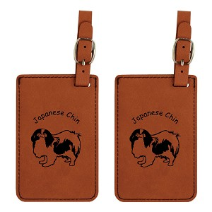 Japanese Chin Luggage Tag 2 Pack L3425