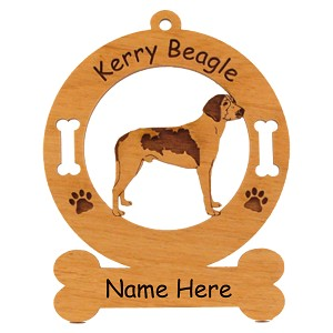 3440 Kerry Beagle Standing Ornament Personalized with Your Dog's Name