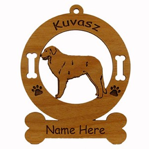 3468 Kuvasz Standing Ornament Personalized with Your Dog's Name