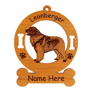 3497 Leonberger Standing #2 Ornament Personalized with Your Dog's Name