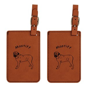 Mastiff Standing Luggage Tag 2 Pack L3545