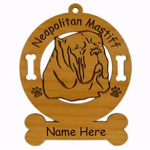 3588 Neomastiff Head  Ornament Personalized with Your Dog's Name