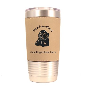 3596 Newfoundland Head #1 20 oz Polar Camel Tumbler with Lid Personalized with Your Dog's Name