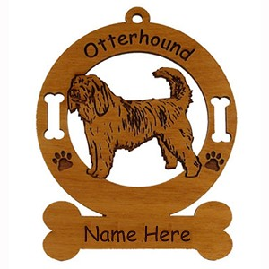 3646 Otterhound Standing Ornament Personalized with Your Dog's Name