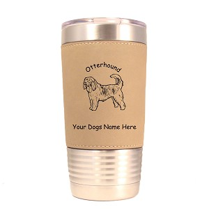 3646 Otterhound Standing #1 20 oz Polar Camel Tumbler with Lid Personalized with Your Dog's Name