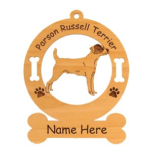 3670 Parsons Terrier Rough Standing Ornament Personalized with Your Dog's Name