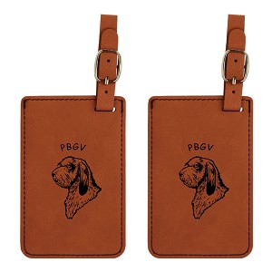PBGV Head Luggage Tag 2 Pack L3689