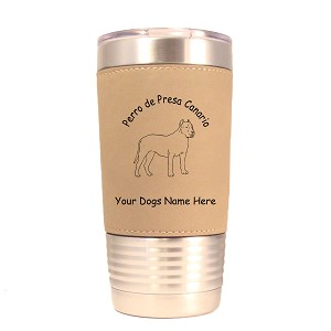 3700 Perro de Presa Canario Standing #1 20 oz Polar Camel Tumbler with Lid Personalized with Your Dog's Name