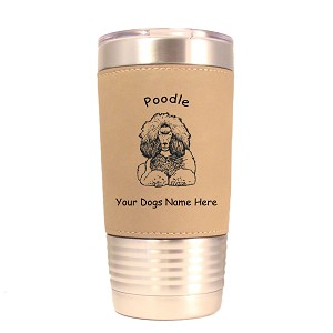 3750 Poodle Sitting #1 20 oz Polar Camel Tumbler with Lid Personalized with Your Dog's Name