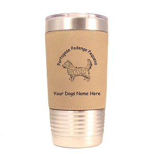 3753 Portuguese Podengo Pequeno Standing #1 20 oz Polar Camel Tumbler with Lid Personalized with Your Dog's Name