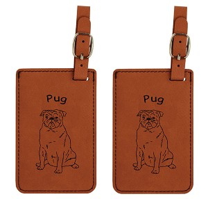 Pug Sitting Luggage Tag 2 Pack L3758