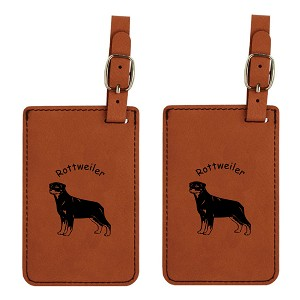 Rottweiler Standing Luggage Tag 2 Pack L3832
